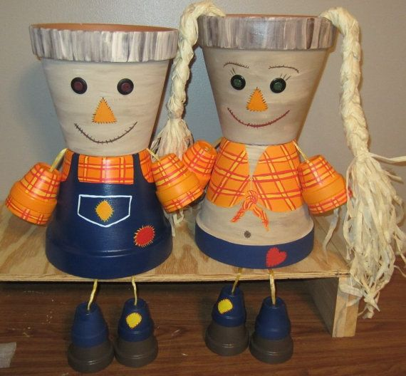 Planter Pot Person Garden Friend Listing is Scarecrow Couple Planters, our most popular couple. Our planters are made from terra-cotta clay pots.