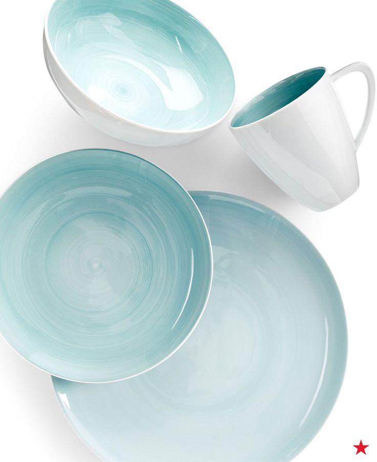Serve overnight guests breakfast with the Mikasa Savona collection in teal. It's everyday dinnerware with a touch of elegance.