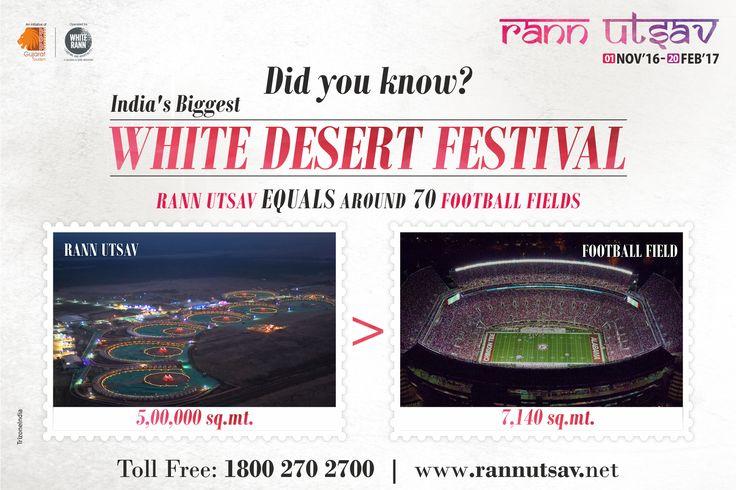 OMG! Did You Know?  Rann Utsav is 70 times larger than a football field.