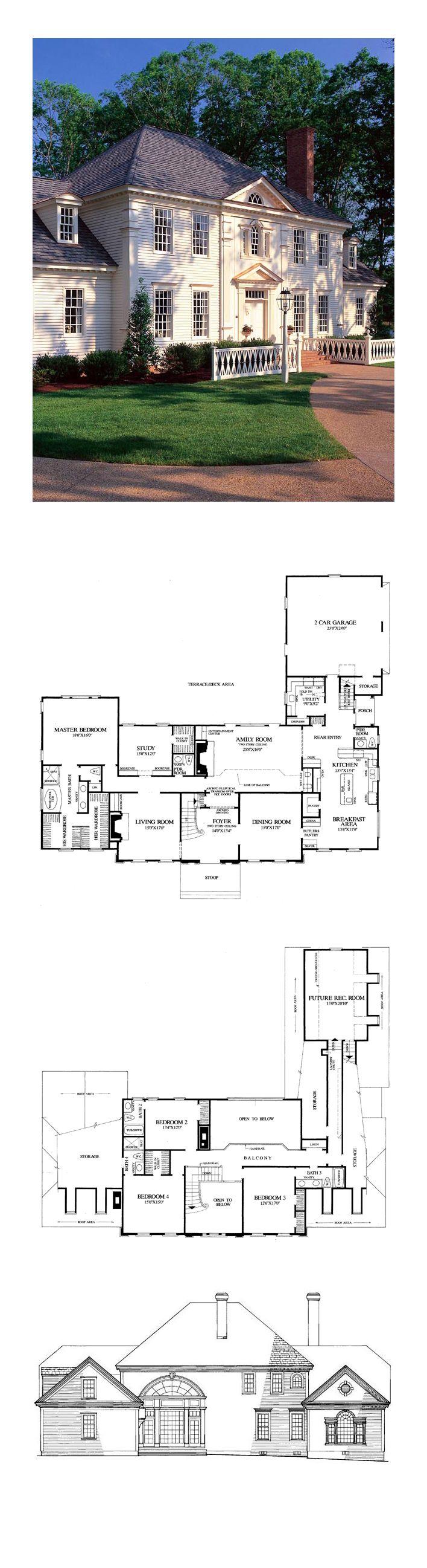 Colonial Plantation Southern House Plan 86186 50