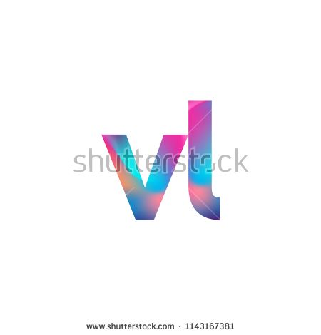 Initial Letter Vl Logo Lowercase Colorful Design Modern And Simple