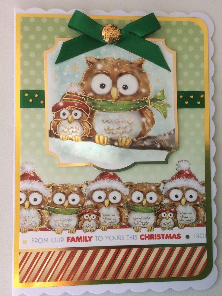 Hunkydory - Owl be home for Christmas.