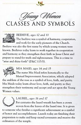 Young Women Class symbols
