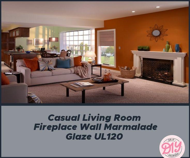 Casual Living Room Fireplace Wall Marmalade Glaze UL120 in ... on Fireplace Casual Living id=64846