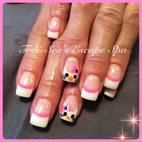 Hello Kitty Nails by TraiSeasEscape from Nail Art Gallery