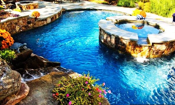Beautiful Backyards Without Pools : Beautiful Backyard pool  dream pools & ponds  Pinterest  Backyard