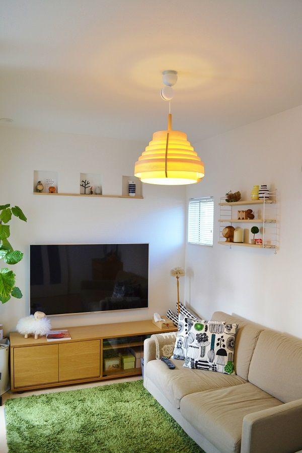 めがねとかもめと北欧暮らし http://ameblo.jp/61680318/ リビング:照明(JAKOBSSON LAMP)