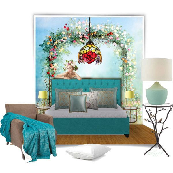 Floral Room by ilona2010 on Polyvore featuring interior, interiors, interior design, maison, home decor, interior decorating, InnerSpace Luxury Products, Studio A, Coyuchi and Sweet Dreams