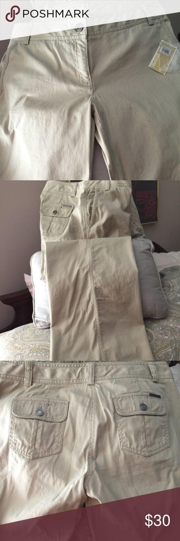 Pants Michael Kors kaki pants. NWT Michael Kors Pants Boot Cut & Flare