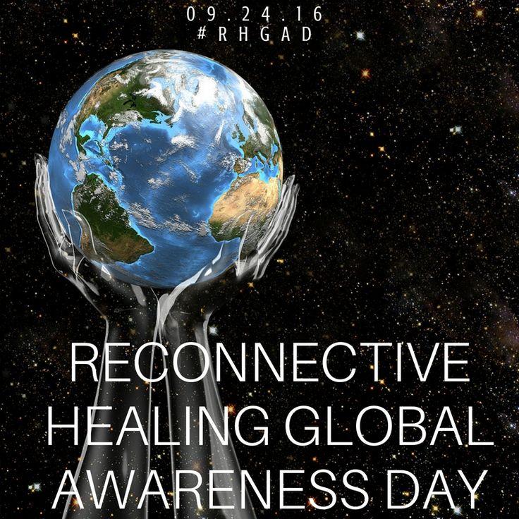 Reconnective Healing Global Awareness Day #RHGAD. Der vil være være livestream via The Reconnections facebookside kl. 14, så hele verden kan være med.