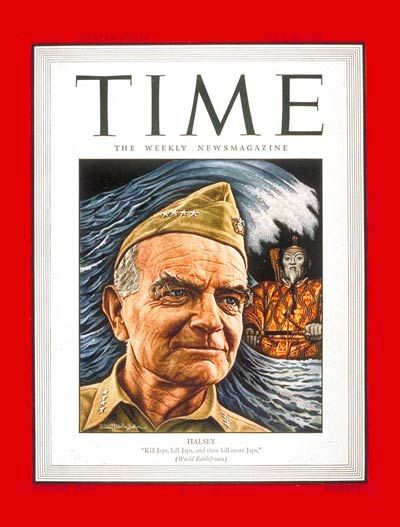 TIME Magazine Cover: Adm. William Halsey - July 23, 1945 - Admirals - Navy - World War II - Military