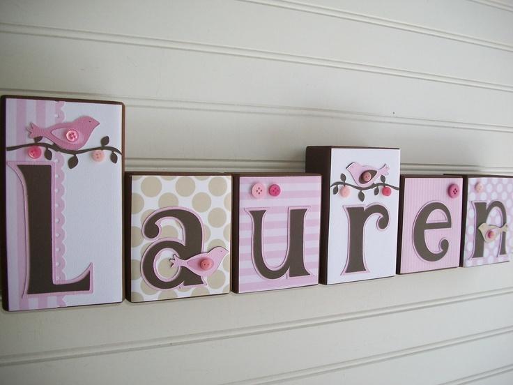 Name Blocks .M2M Pottery Barn Kids Penelope. Nursery Name Blocks . Nursery Decor . Baby Letter Blocks . Wood Name Blocks . Bedding. $11.00, via Etsy.