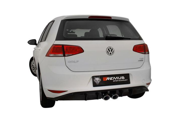 Volkswagen Polska Golf VII z tłumikiem tylnym REMUS INNOVATION.  Sportowy tłumik tylny Remus z podwójnymi, centralnymi końcówkami odmieni oblicze Twojego Golfa! Basowy, sportowy dźwięk oraz oryginalny wygląd zdecydowanie wyróżnią ten najpopularniejszy kompakt na drogach. Na zamówienie dostępny również dyfuzor dopasowany do nowych końcówek wydechu!  Tylko w Remus Polska http://www.remus-polska.pl/