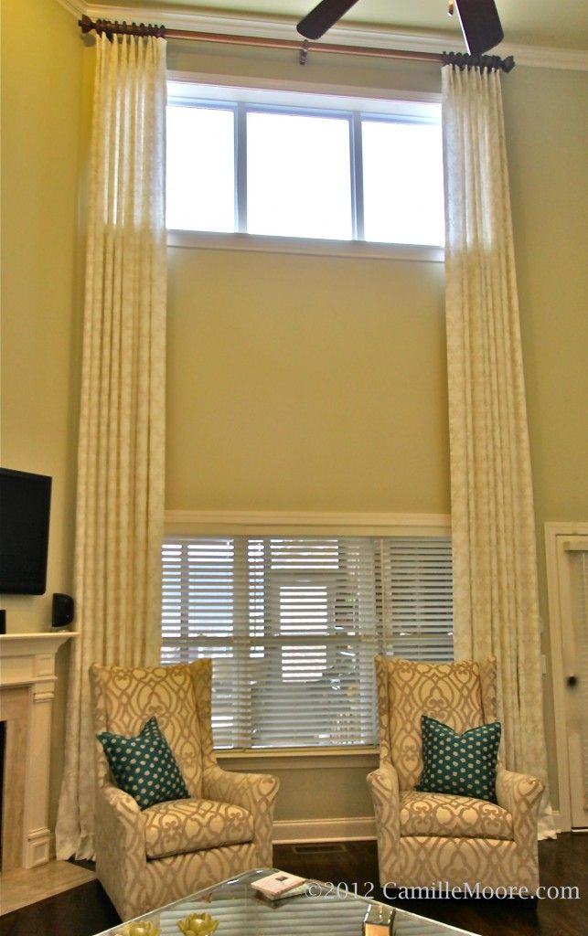 28 best two story windows images on pinterest window for 2 story window treatments