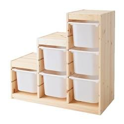 TROFAST IKEA toy storage for stairs ~ http://www.ikea.com/us/en/catalog/products/S49819508/