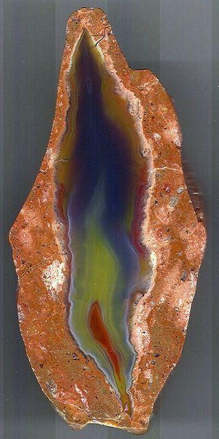 A beautiful flame like agate