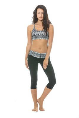 Body Language Scrunchy running tights - Black/Tribal - $92.95 - This season's latest print is the tribal, unleash your inner animal with these limited edition tights! No wonder celebrities are clamouring for the scrunchy running tights, you can't take a bad photo in this gym wear. The waist detail supports and shapes your stomach, creating a smooth, flat line. #fireandshine #yoga #fashion #ethical #activewear #loungewear #bodylanguage #newarrival #justarrived #tribal #celebrity
