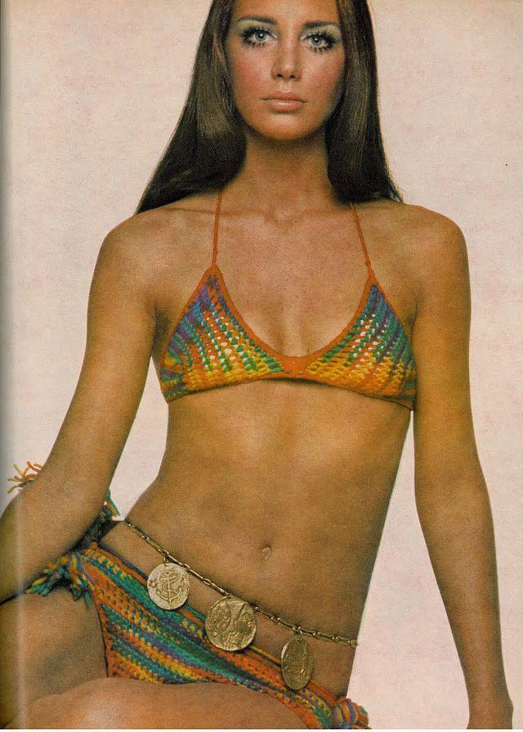 Vogue magazine. Crotchet bikini, c. 1970.