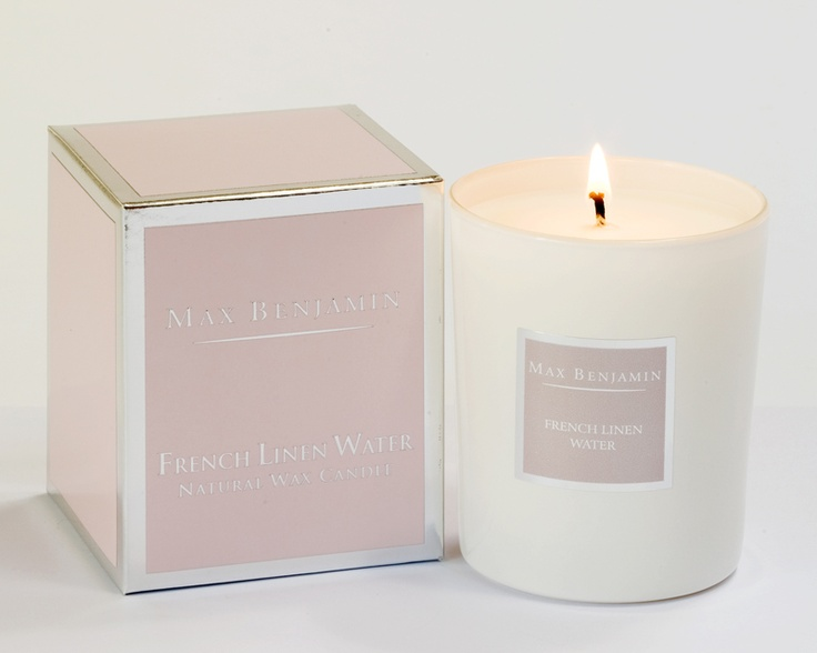 Max Benjamin Candle - French linen Water