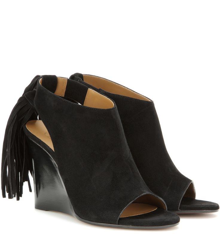 nice Wedge-sandalen Aus Veloursleder http://portal-deluxe.com/produkt/wedge-sandalen-aus-veloursleder-6/  315.00