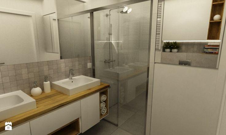 Łazienka styl Skandynawski - zdjęcie od Grafika i Projekt architektura wnętrz