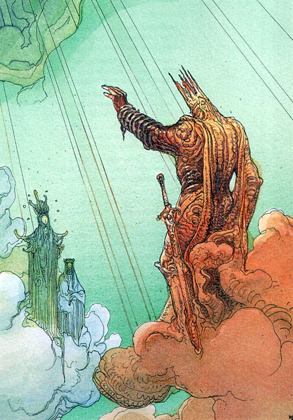 Moebius - Paradiso (1999)~ This guy reminds me of Sauron...