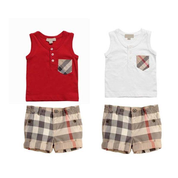 Baby Boy Tartan Tank Top & Shorts