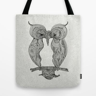 Owl Tote Bag by clickybird - Belinda Gillies - $22.00