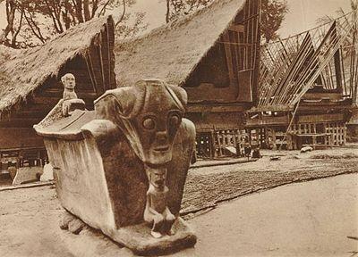 Batak village and the pre Christian Batak thomb | 1910