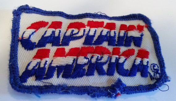 Vintage Captain America Cloth Patch  Sew-on by VintageBookandGift