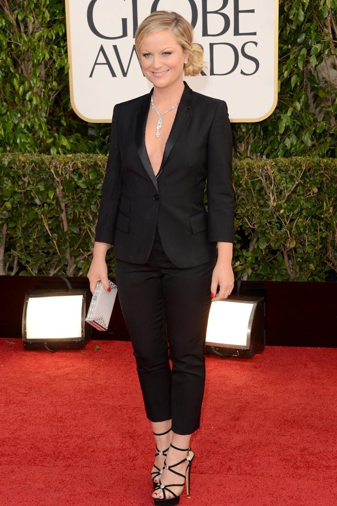 Amy Poehler, de Stella McCartney, en los Globos de Oro 2013
