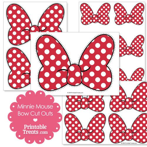 Printable Minnie Mouse Bow Cut Outs from PrintableTreats.com