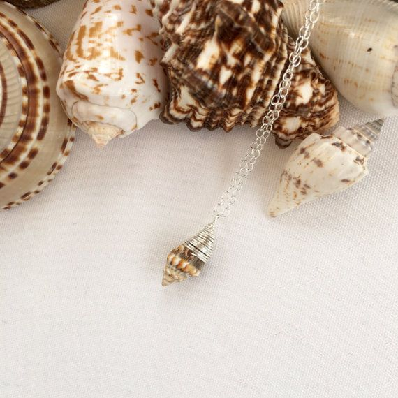 Shell necklace, beach wedding, bridesmaid jewellery, summer, gift for her, boho, natural shell, small shell pendant, sea shell, girlfriend
