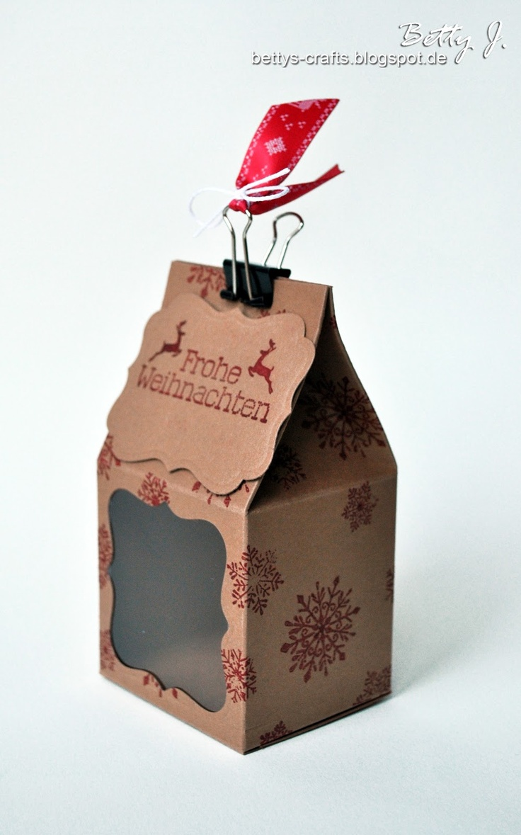Make a milk carton using a sheet of paper tutorial in German but video is good