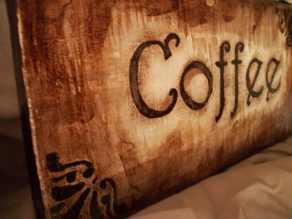 Coffee Kitchen Decor  6x12 Canvas Coffee Sign  by MeKaRoGallery, $12.00 love-etsy