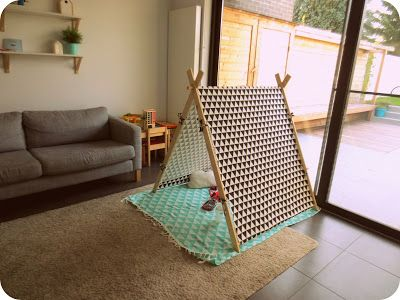 Tiene: A-frame speeltent - how -to -stof van kwantum