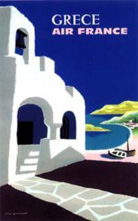 Affiche Air France- Grèce