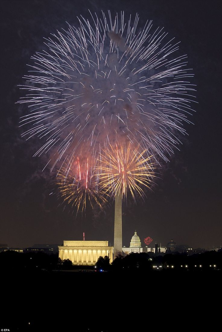 Aside from the stunning fireworks displays, pictured, crowds gathered in DC for the July 4th concert on the National Mall
