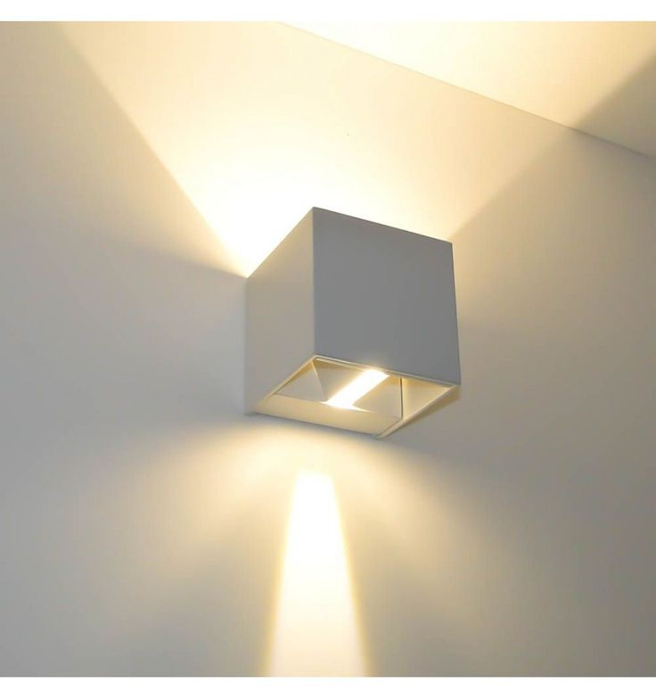 Applique murale blanche led design cubic kosilum for Applique murale luminaire exterieur design