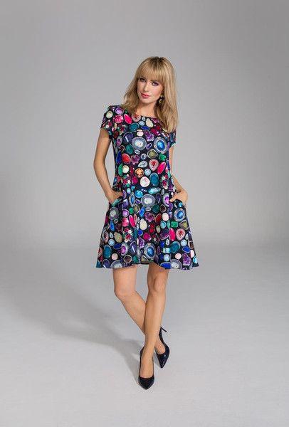 Trapezowa sukienka Alani - LATTORE - Sukienki koktajlowe