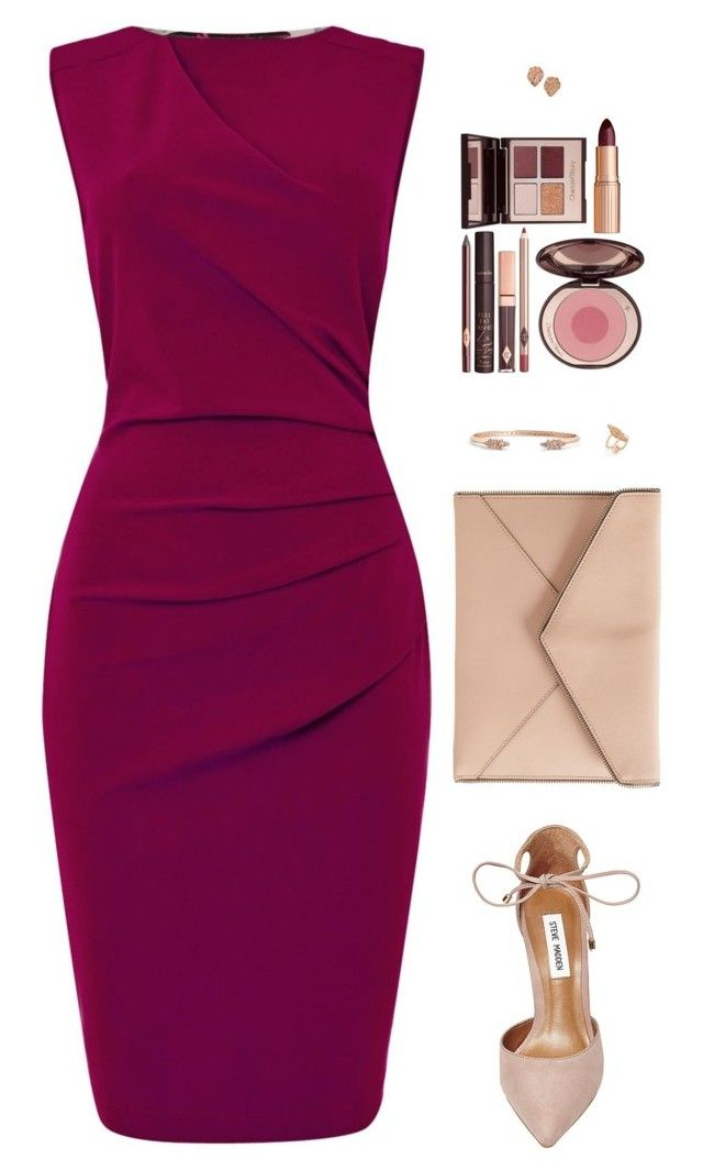"""""""Sin título #4215"""" by mdmsb on Polyvore featuring moda, Pied a Terre, Steve Madden, Rebecca Minkoff, Kendra Scott y Charlotte Tilbury"""