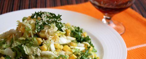 Рецепты салатов с кукурузой консервированной