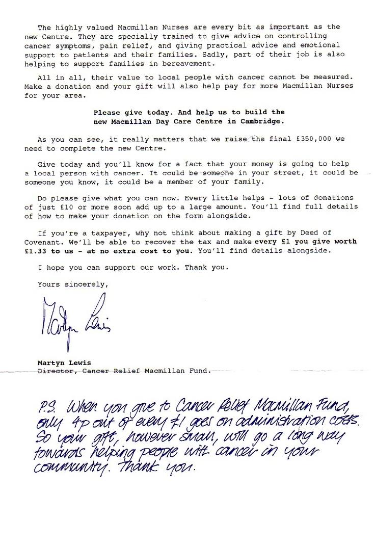 Macmillan letter page 2