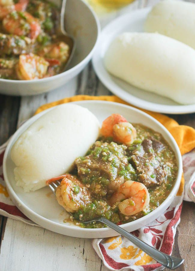 Okro Soup African Cooking West African Food Nigerian Food