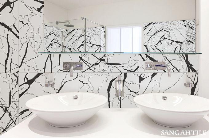 Marble /by @ORNAMENTA #tile #tiles #sangahtile #interior #interiordesign #space #simple #modern #pattern #bedroom #home #homedesign #타일 #인테리어 #디자인 #홈디자인 #홈인테리어 #욕실 #바닥 #벽 #패턴