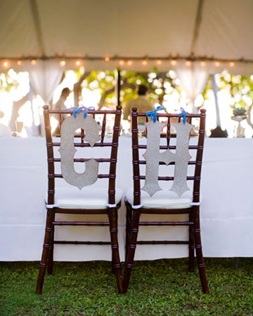 Glittery Embellishment: Monograms Letters, Decor Ideas, Glittery Embellishments, Outdoor Destinations, Oahu Hawaii, Bride Grooms Chairs, Cute Ideas, Chairs Decor, Destinations Wedding