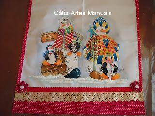 Catia Artes Manuais: PASSO A PASSO PINTURA EM TECIDO DE NATAL COUNTRY