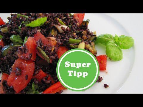 Reis mit halben Kalorien | mediteraner Reissalat | Venere – IL RISO GALLO NERO | Wie abnehmen? - So abnehmen