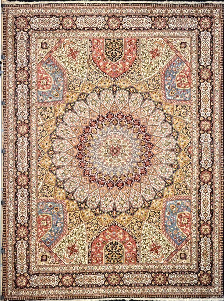 Super Fine Gonbad Silk Persian Area Rug 10x13
