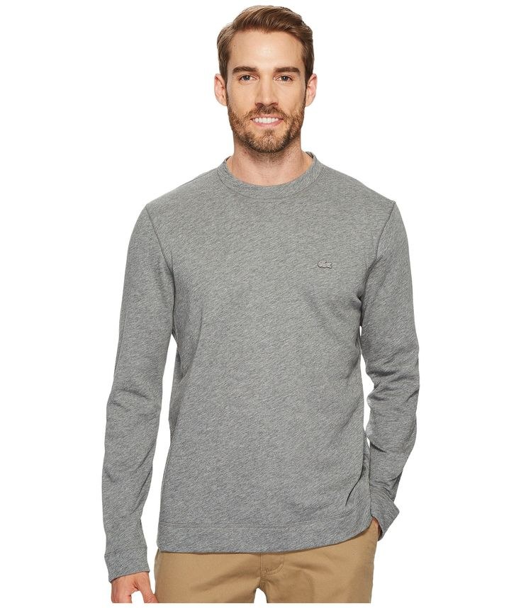 LACOSTE Light Brushed Fleece Sweatshirt. #lacoste #cloth #